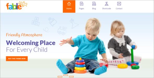 Free Kindergarten Website Template