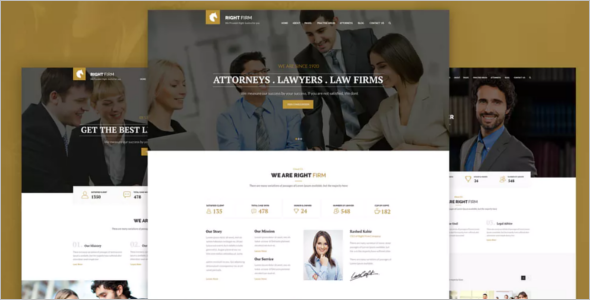 Free Law Firm Website Template