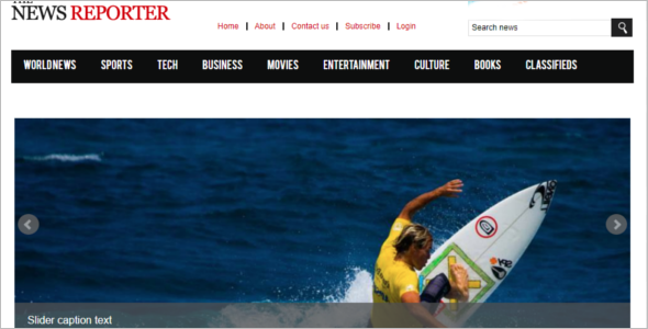 Free News Website Template