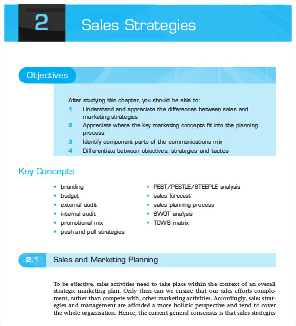 Free Sales Strategy Template