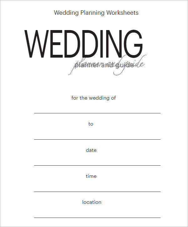 Free Sample Wedding Planning Checklist Template