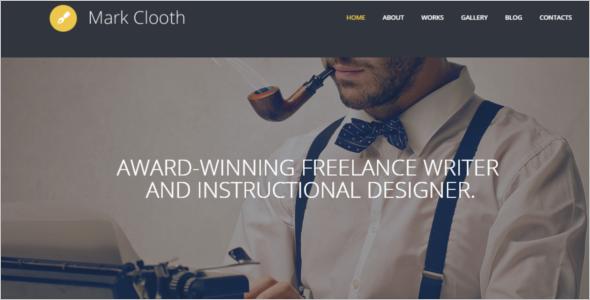 Freelance Writer Website Theme