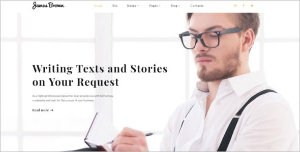 Freelancer Author Website Theme