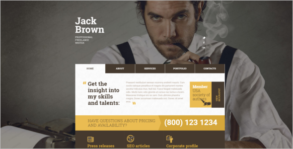 Freelancer Editor Website Template
