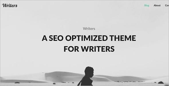 Freelancer Writer Portfolio Website Template