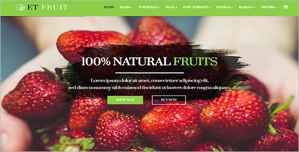 Fruit Shop Joomla Template