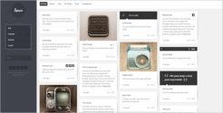 Full Screen Grid Blog Template