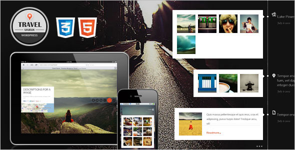 Fullscreen Travel HTML Template