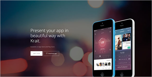 Fully Responsive App Landing Page Template