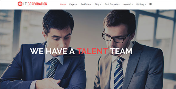 Fully Responsive Business Services Joomla Template