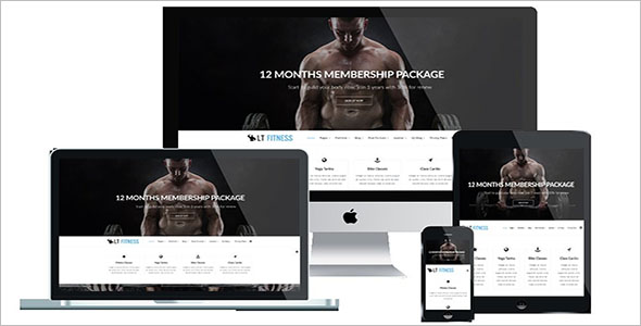 Fully Responsive Fitness Joomla Template