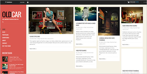 Fully Responsive Grid Blog Template