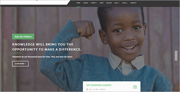 Fully Responsive Non-Profit Bootstrap Template