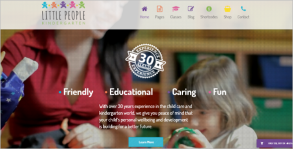 Fun Kindergarten Website Template