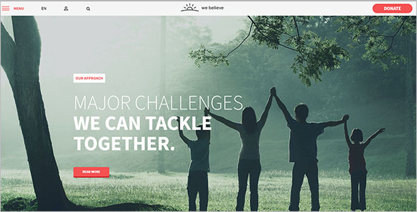 Fundraising Bootstrap Template