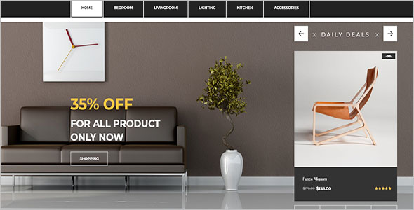 Furniture Bootstrap Ecommerce Template