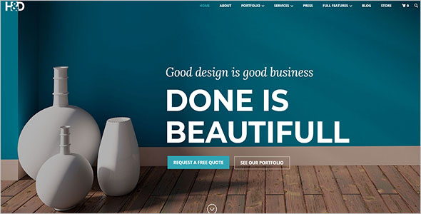 Furniture Bootstrap Template