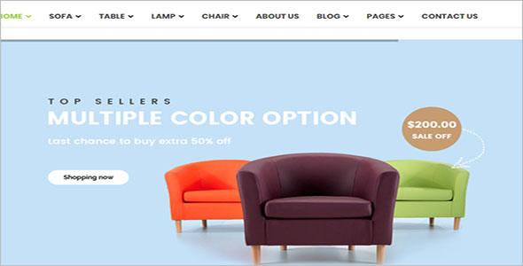 Furniture HTML Bootstrap Template