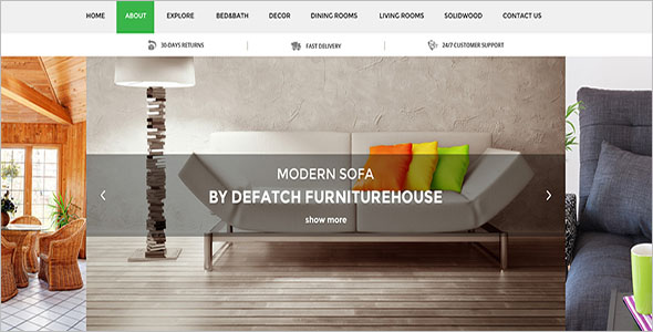 Furniture Responsive HTML Template