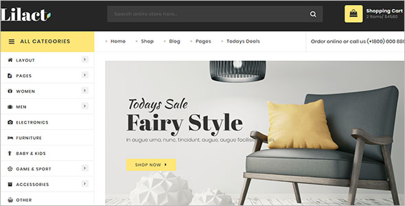 Furniture Retail Bootstrap Template
