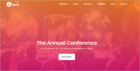 Gaint Event Planning Website Theme