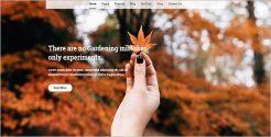 Gardening Page WordPress Theme