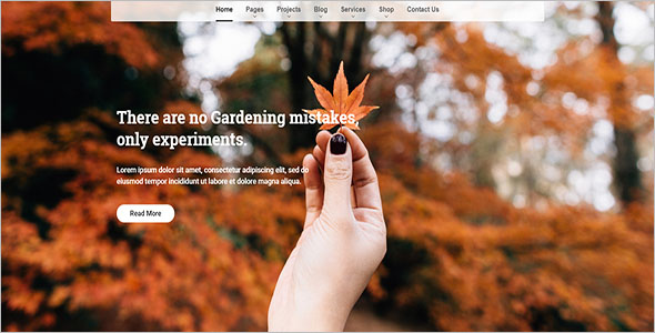 Gardening Page WordPress Theme