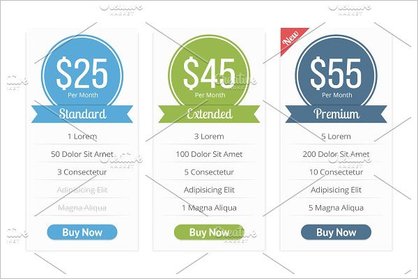 General Price List Template