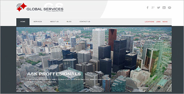 Global Business Services Joomla Template