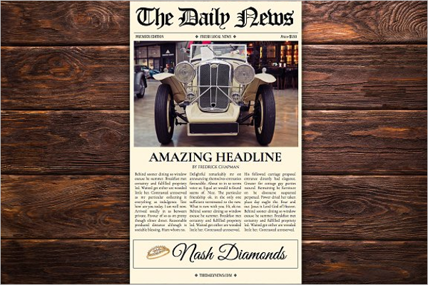 Google Docs Newspaper Template