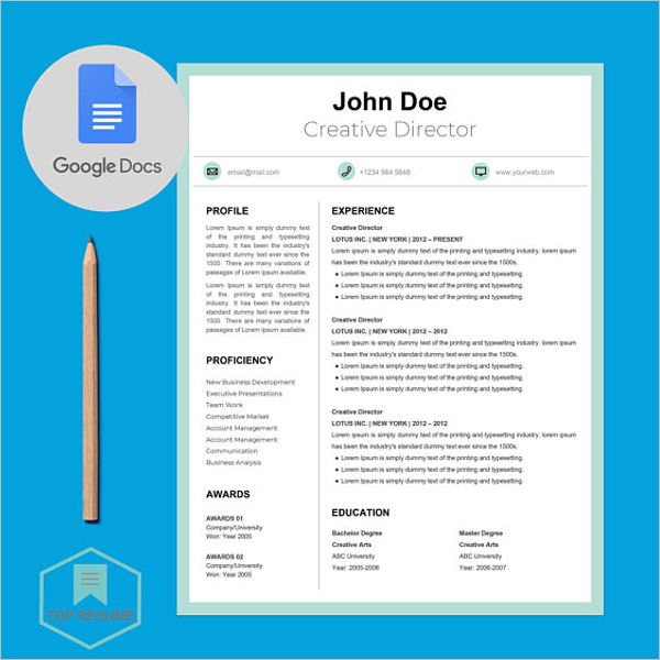 Google Docs Presentation Template