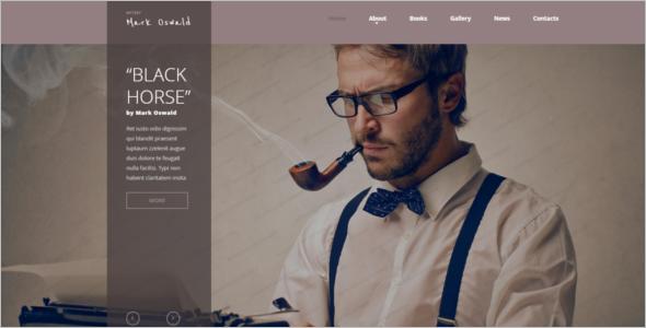 Great Writer Website Template