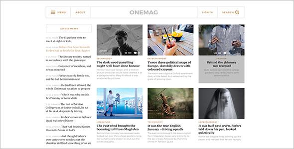 Grid Blog Theme Free Download