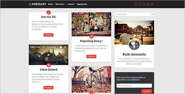 Grid Blog Theme