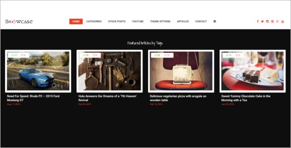 Grid Blog Website Template