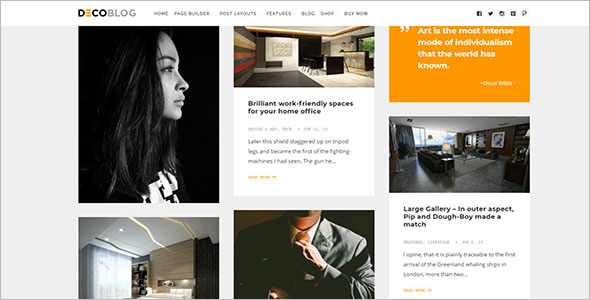 Grid Style Lifestyle Blog Theme