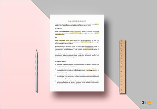 HR Agreement Format