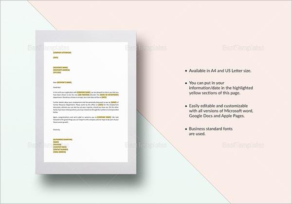 HR Letter Format