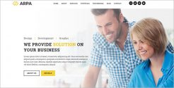HTML Business WordPress Theme