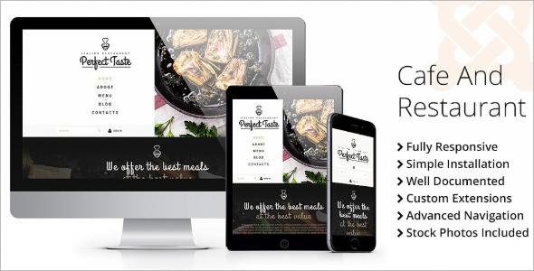 HTML Cafe Website Theme