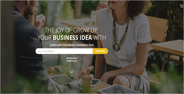 HTML Consulting Landing Page Template