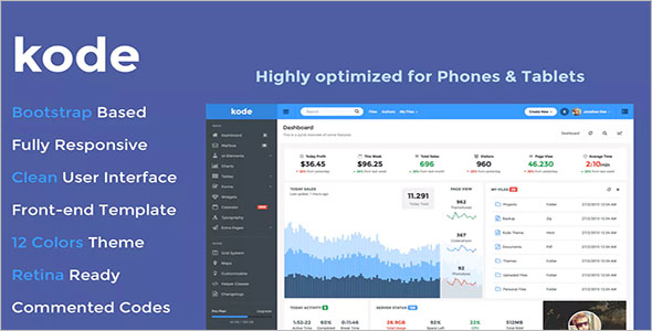 HTML Dashboard Website Theme