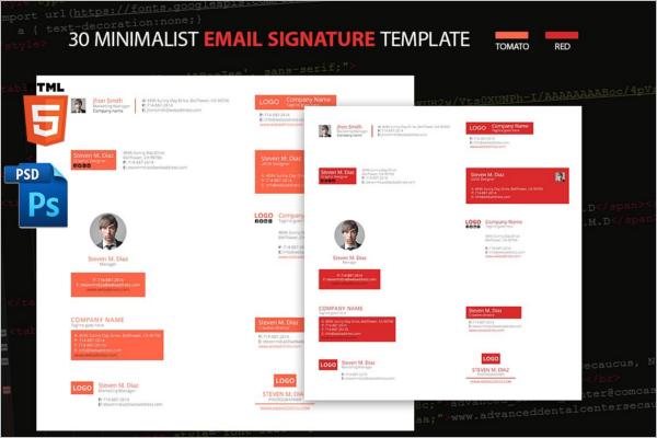 HTML Email Signature Etiquette Template