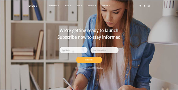 HTML Page Builder Template
