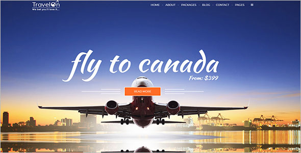 HTML Template For Travel Business