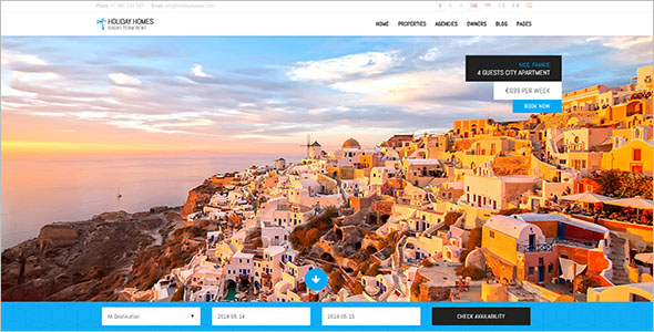 HTML Template For Travel Websites