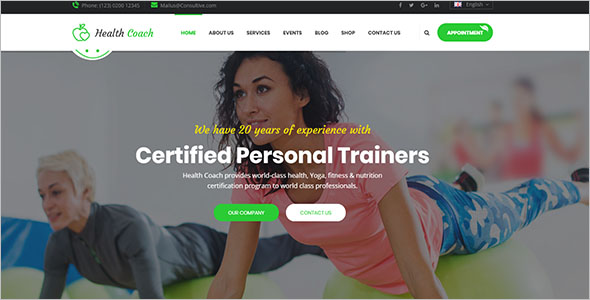 HTML Template for Personal Coaching Website
