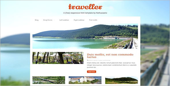 HTML Travel Website Template