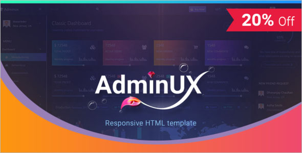HTML Web Dashboard Template