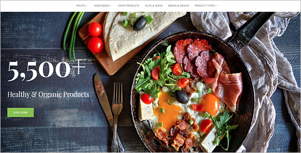 Healthy Food Magento Theme